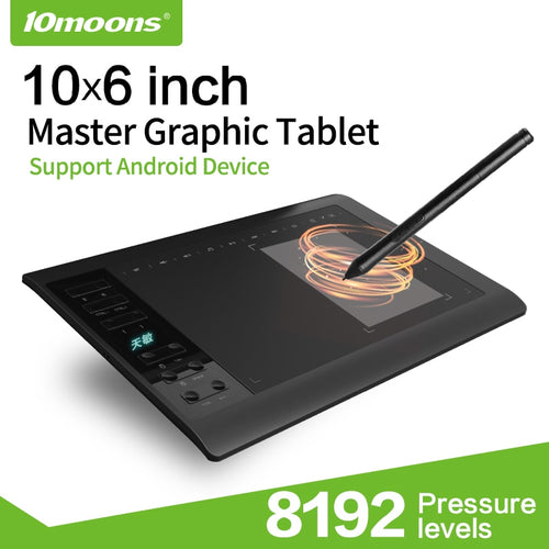 Graphics Tablet 8192 Levels Drawing Tablet G10  Android Mac and Windows Support