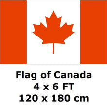 Load image into Gallery viewer, Canadian Flag Polyester Maple Leaf Banner Outdoor Indoor Several SIzes