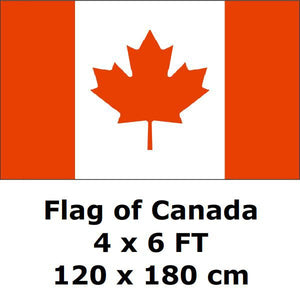 Canadian Flag Polyester Maple Leaf Banner Outdoor Indoor Several SIzes