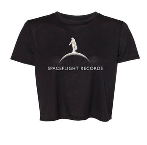 Spaceflight Records Women's Flowy Cropped Tee