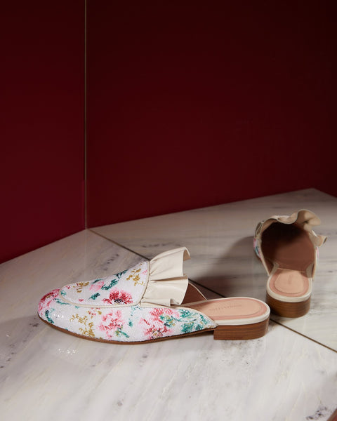 FRILLS FOR ALL MULE FLAT