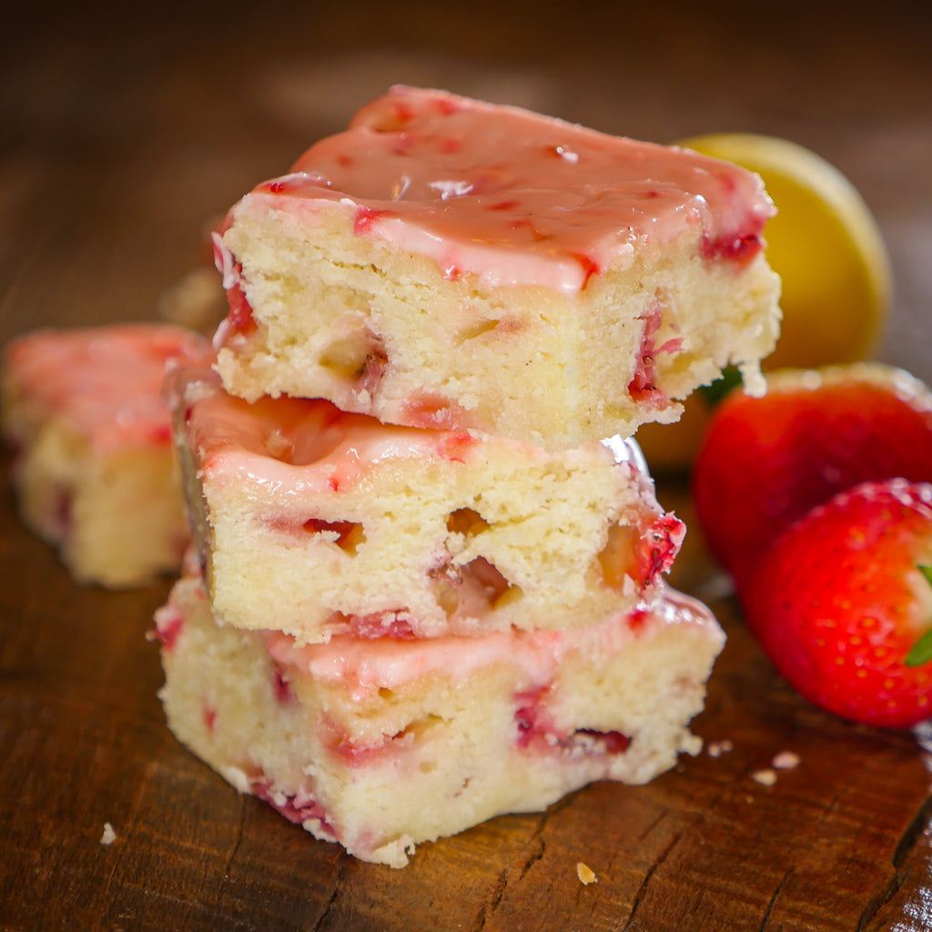 Strawberry Lemon Bars - 1 Dozen