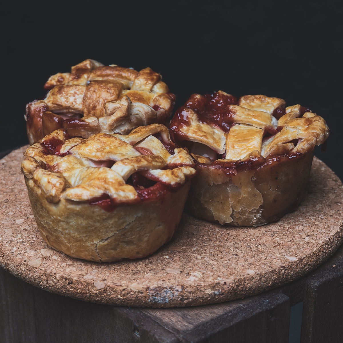 Individual Strawberry Balsamic Pies - 4 Pack