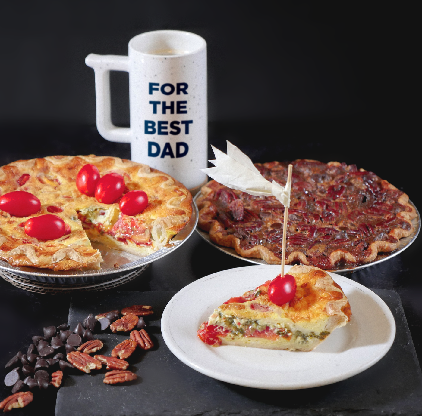 Father's Day Quiche and Pie