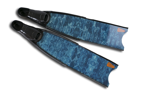 Leaderfins Blue Camo Stereofins