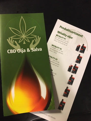 Svensk CBD-Care4you Brochurer med indstik
