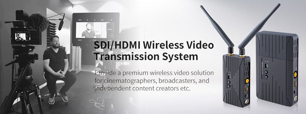 Broadcast industry wireless supports uncompressed 3G/HD/SD-SDI and HDMI wireless transmitted 200 meters