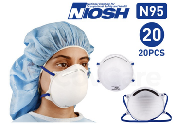 Harley L288 N95 Face Masks (NIOSH Certified) 1 BOX ( 20PCS )