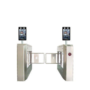 Automatic aluminium alloy face recognition Infrared temperature measurement security System Channel gate