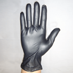 Hongray Colored PVC gloves (black)(100 gloves)