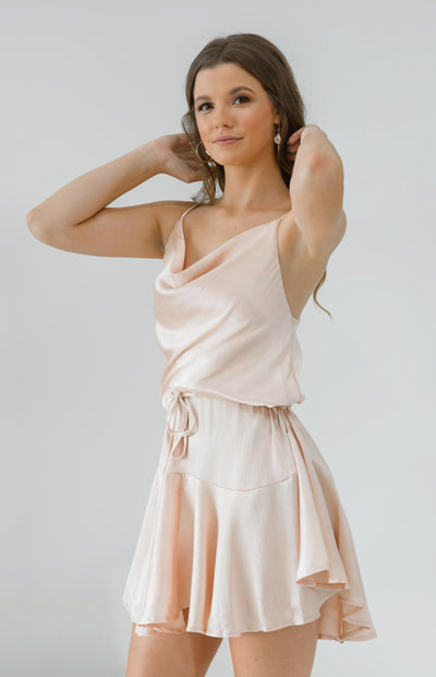 Lienna Dress - Champagne Pink