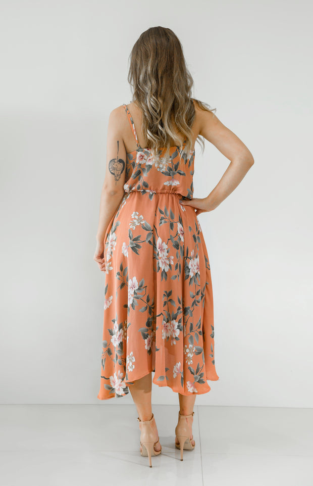 Eleasha Dress - Peach