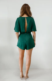Cherlyn Playsuit - Forest Green