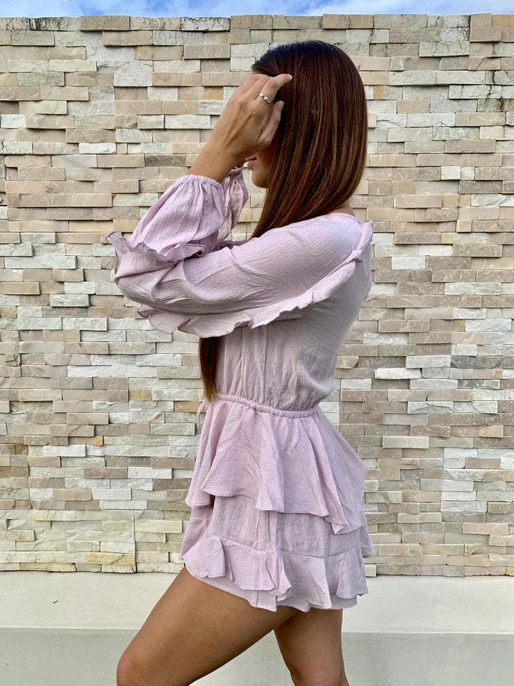 Raina Playsuit - Purple