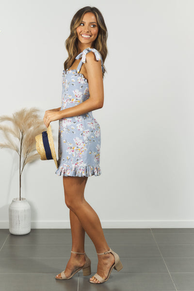 Sienna Dress - Blue