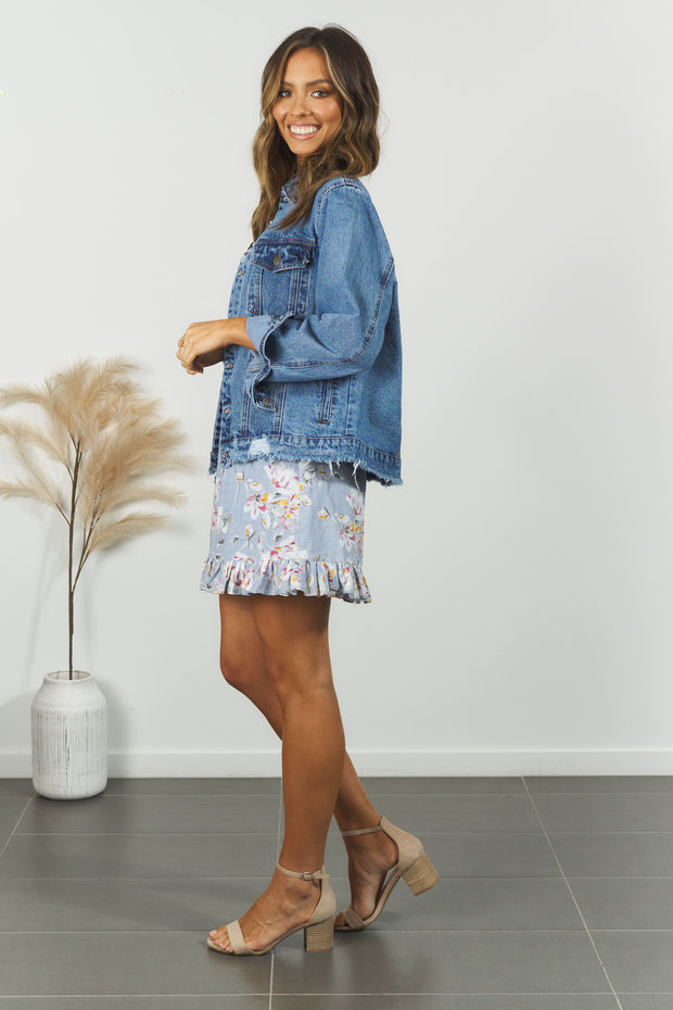 Zinnia Denim Jacket - Blue