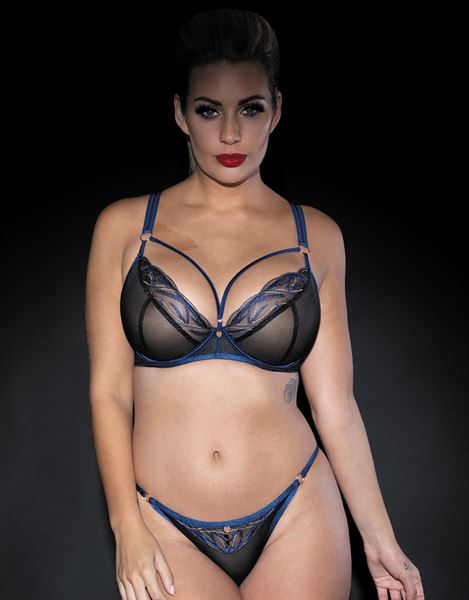 Scantilly Submission Thong ST9200 Black/Blue