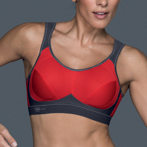 Anita Active Maximum Support Wire Free Sports Bra 5527 Red