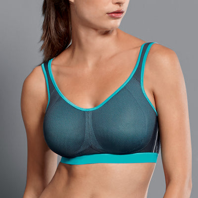 Anita Maximum Support Wireless Sports Bra 5533 Peacock Blue