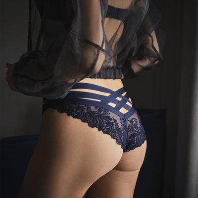 Aubade Femme Passion Mini-Coeur Brief Mi20-6 Navy