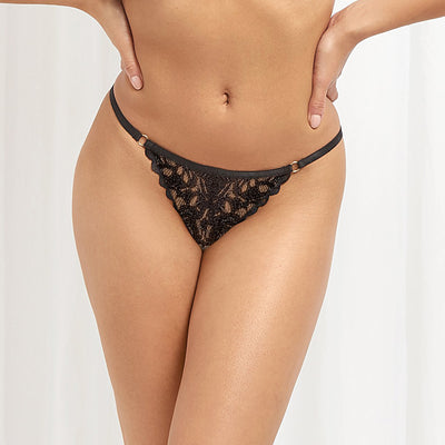 Bluebella Leta Thong 40829 Black Thong