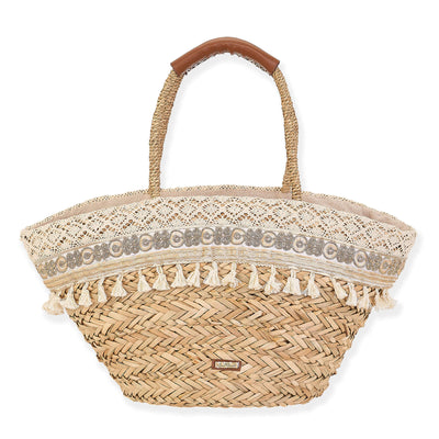 Sun 'N' Sand Shoulder Tote CE6313 Natural Straw Bag