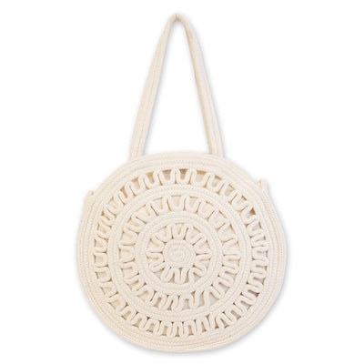 Sun 'N' Sand Shoulder Tote Ce6326 Natural Crochet Bag