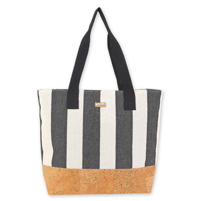 Sun 'N' Sand Shoulder Tote CE6345 Black Beach Canvas