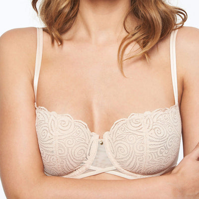 Chantelle Pyramide Lace Unlined Demi Bra 1465 Nude Blush