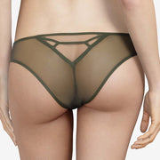 Chantal Thomass Edge Brazilian Thong T08c90 Dark Pine