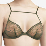 Chantal Thomass Edge Underwire Bra T08C10 Dark Pine