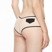 Chantal Thomass SINGULIÈRE- Shorty Hipster T03a70 Nude/Black