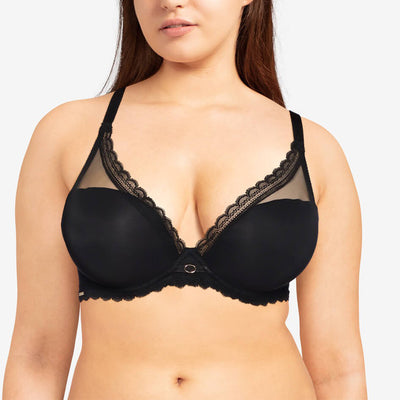 Chantelle Parisian Allure Plunge T-Shirt Bra 2232 Black