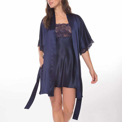 Christine Boudoir Short Robe BIJR4000 Midnight