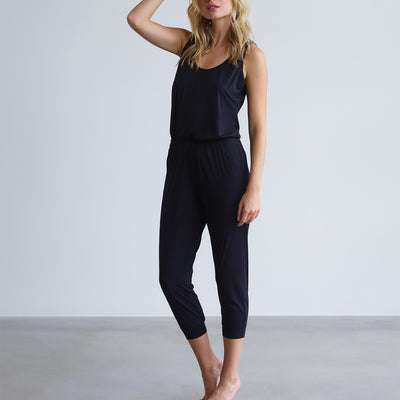 Commando Butter Tank Jumpsuit LGE200 Black