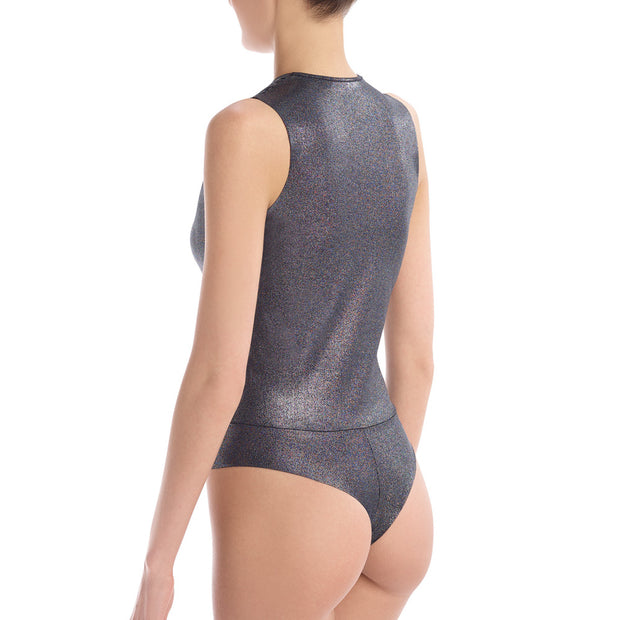 Commando Sparkle Wrap Bodysuit Bds162 Black