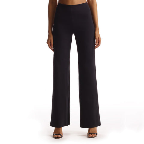 Commando Neoprene Wide Leg Pant NEO202 Black