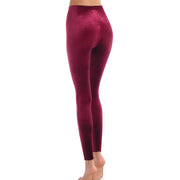 Commando Velvet Leggings with Perfect Control Slg05 Berry