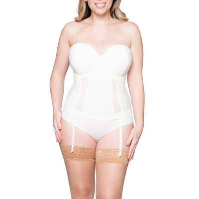 Curvy Kate Luxe Ivory Strapless Basque Ck17707 Ivory