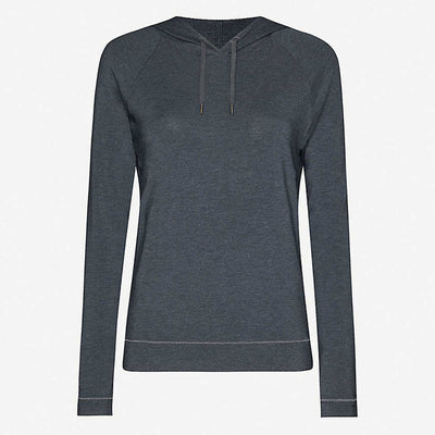 Derek Rose Basel Micro Modal Stretch Hoodie 1232-Marl001ant Anthracite