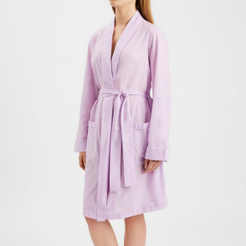 Derek Rose Amalfi Cotton Robe 1195 Rose/Blue