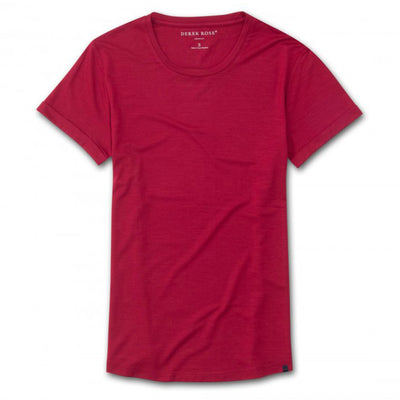 Derek Rose Leisure T Shirt 1225-Lara001 Crimson