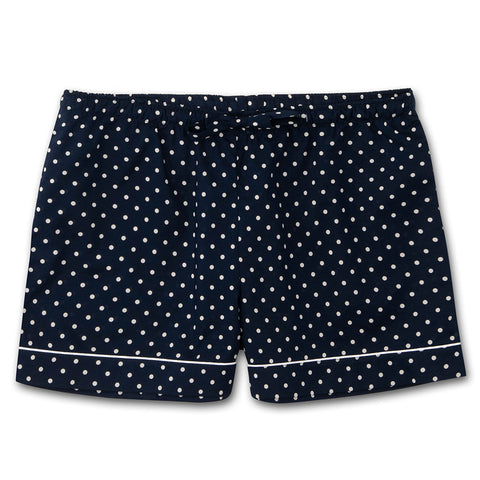 Derek Rose Lounge Short 1253-Plaz060 Navy Polka Dot