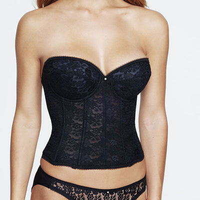 Dominique Annabel Long Bustier 7749 Black