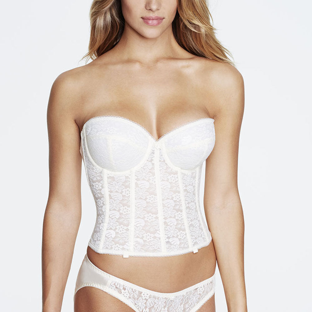 5cc77b21cda Share Share on Facebook Pin it Pin on Pinterest. Dominique Annabel Long Bustier  7749 Ivory