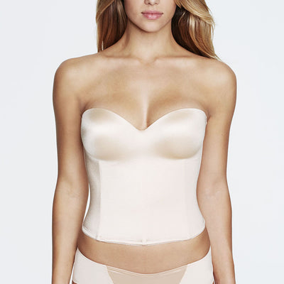 Dominique Ariel Hidden Underwire Longline Bridal Bra 8541 Nude