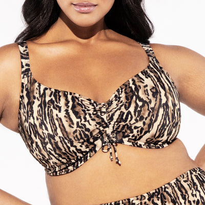 Elomi Swim Fierce Bikini Top ES7203 Leopard
