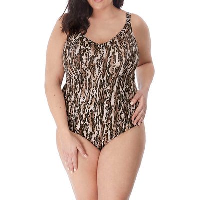Elomi Swim Fierce Molded Swimsuit ES7200 Leopard