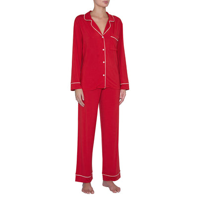 Eberjey Gisele Long PJ Set PJ1018 Haute Red