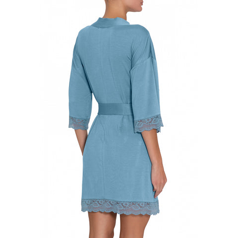 Eberjey Anouk Short Robe R9425 Blueshadow